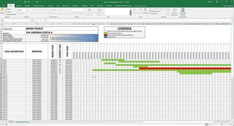 tutorial excel grafici software gratuito cronoprogramma diagramma gantt