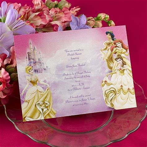 disney princess bridal shower invitations images