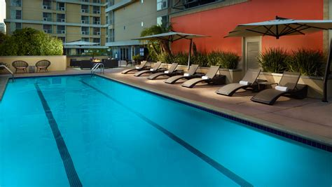 California Floor Plans by Pools In Los Angeles Omni Los Angeles Hotel