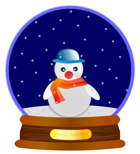 free clipart animated snow globe jaynick