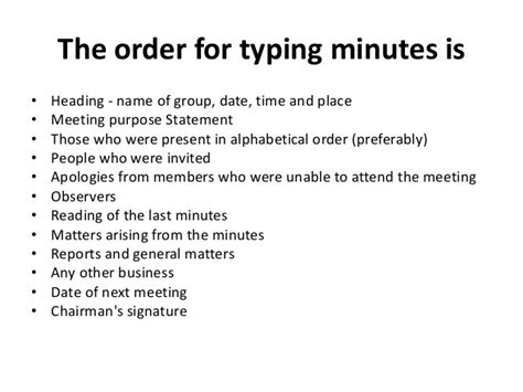 how to type up minutes for a meeting template agenda and meeting minutes