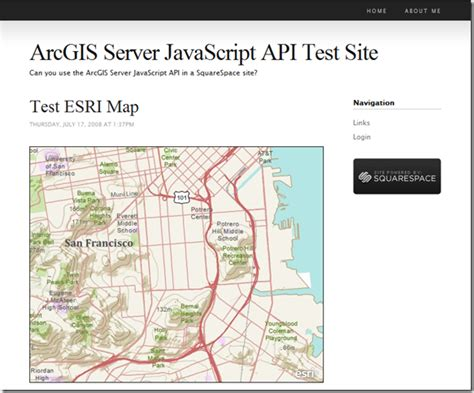 arcgis dojo layout running the arcgis javascript api in a squarespace site