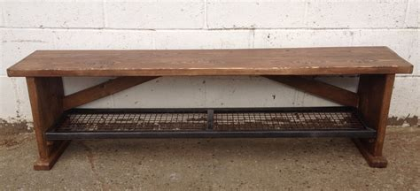 shoe shelf bench reclaimed timber bench with steel mesh shoe shelf metroretro