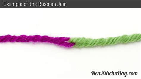 joining yarn knitting how to knit the russian join new stitch a day