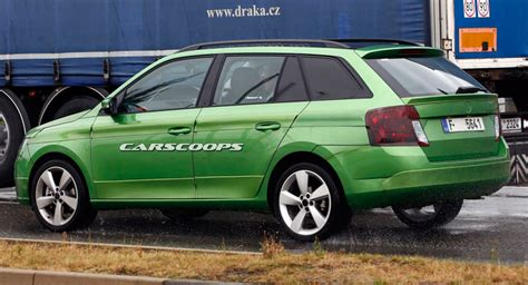 when is the new skoda superbing out scoop skoda reels out barely camouflaged 2015 fabia combi