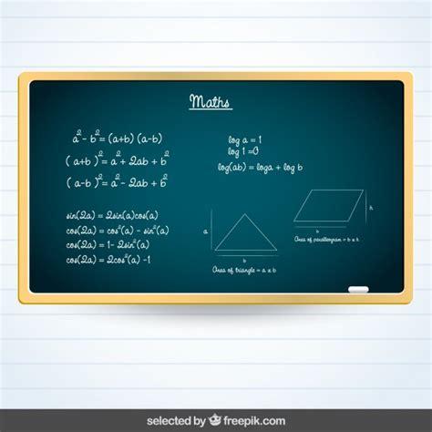 imagenes matematicas gratis pizarra con matem 225 ticas descargar vectores gratis