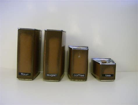 lincoln beautyware 4 canister set 1950 s from