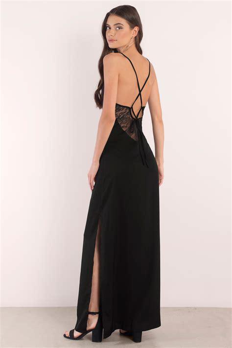 Dress Black trendy black maxi dress black dress lace up dress 72 00