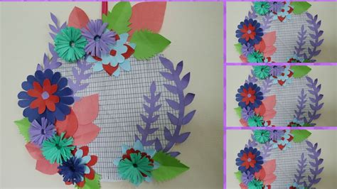 Paper Craft For Wall Decoration - diy wall decoration with paper at home how to make paper