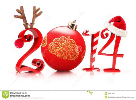 christmas 2014 stock illustration image of happy deer