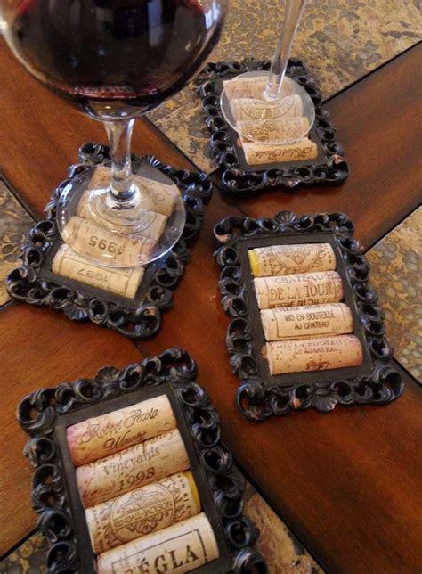 wirklich coole bilderrahmen idea cut corks in half and glue to mini picture