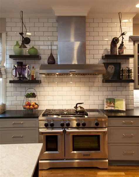 Traditional Kitchen Backsplash by Splashy White Subway Tile Backsplash Convention Atlanta
