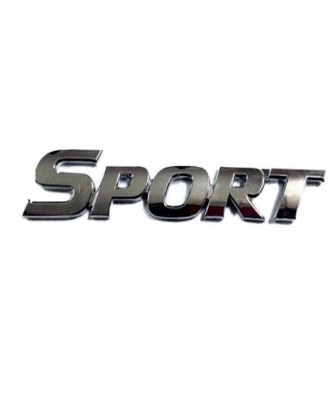 Emblem Sport Merah Crome wow big chrome sport logo 3d emblem sticker for car bike buy wow big chrome sport logo 3d