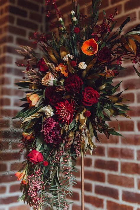 Modern Copper and Burgundy Wedding Inspiration