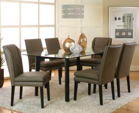Glass Dining Room Sets by 7 Piece Glass Dining Room Set Marceladick Com