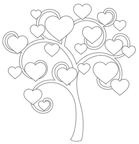 Coloriage Adulte Amour Arbre Des Coeurs 7 O Tree Coloring Page