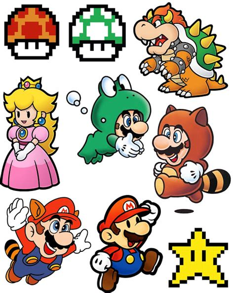 printable images for shrinky dinks printable for super mario brothers shrinky dink necklace