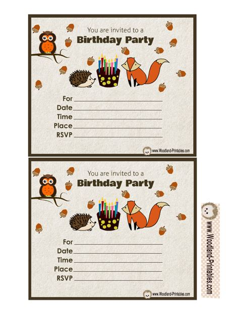 printable naruto birthday invitations free printable woodland birthday party invitations