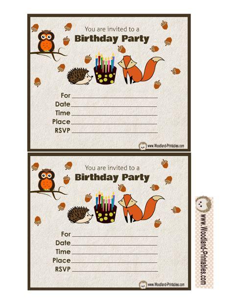 Free Printable Woodland Birthday Party Invitations Woodland Invitation Template