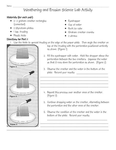 Erosion Worksheets by Erosion Worksheets Cockpito