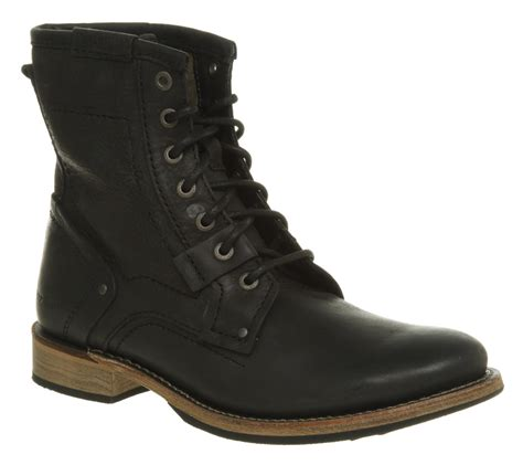 mens black caterpillar boots mens caterpillar aw10 abe lace boot black leather boots