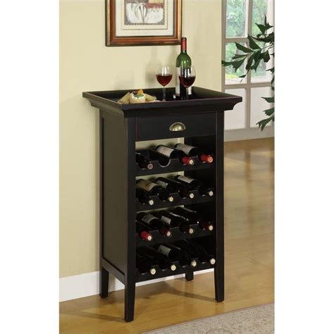 Black Wine Rack Cabinet by Powell Furniture Black With Merlot Rub Through Wine