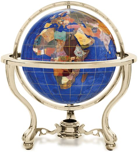 caribbean blue gemstone globe with detailed usa