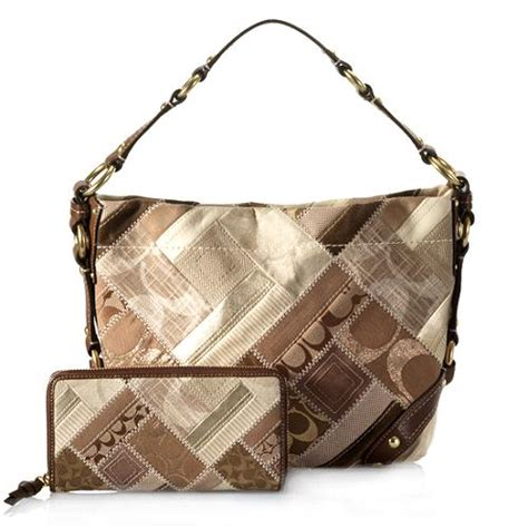Coach Purse Patchwork - coach patchwork hobo handbag and matching zip