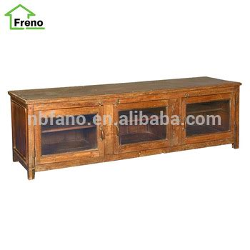 wood tv bench reclaimed wood tv bench with 3 door for living room buy
