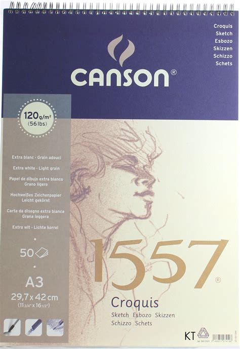 sketchbook canson a3 canson 1557 a5 a4 a3 sketch pad book spiral bound 120gsm