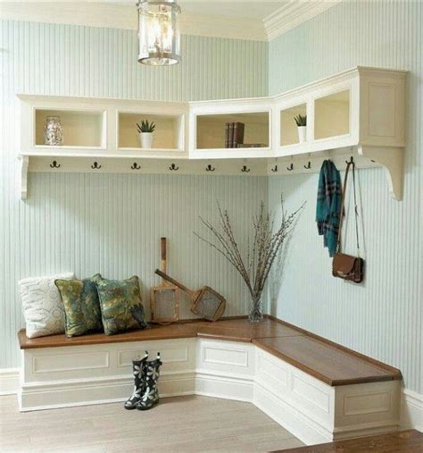 corner entry bench mudroom love the corner bench homeee pinterest