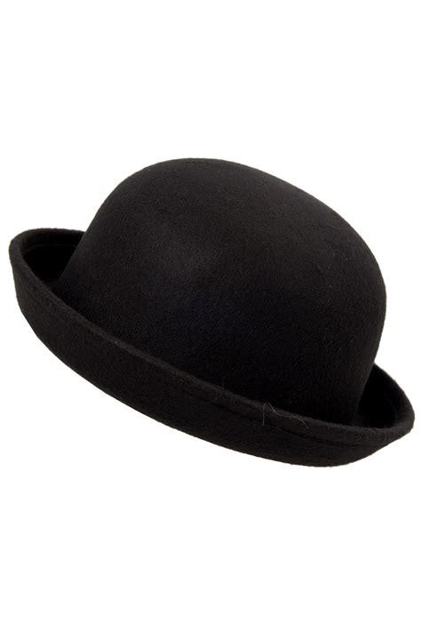 black vogue vintage trendy bowler derby hat