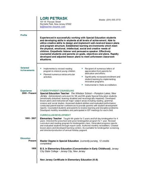 resume cover letters for teachers resume templates easyjob