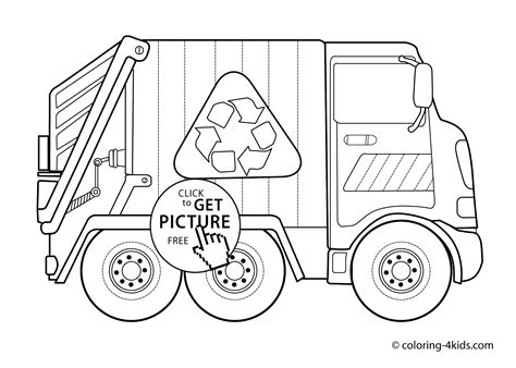 printable coloring pages garbage truck garbage truck transportation coloring pages for kids