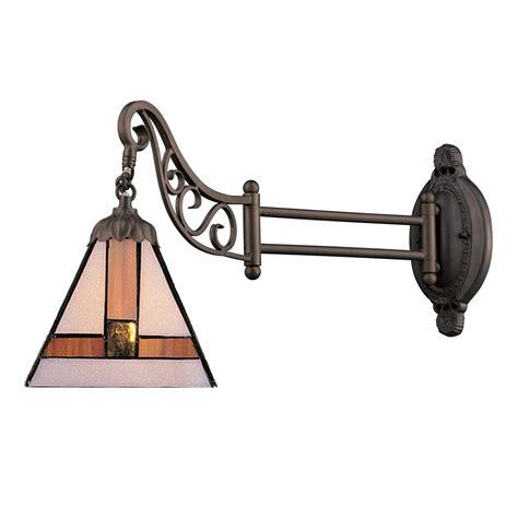 bronze swing arm l elk lighting 079 tb 01 mix n match 1 light swingarm in