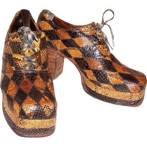 Trend Platform Shoes Bglam by S 1970 S Original Glam Rock Band Snakeskin Platform