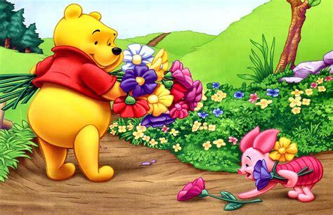 imagenes de winnie pooh con flores fondo pantalla winnie the pooh