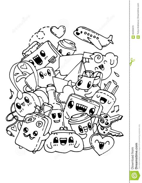 anti stress colouring book doodle and travel doodles coloring pages for stock vector