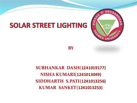Ppt On Solar Street Lighting System Solar Lighting System Ppt