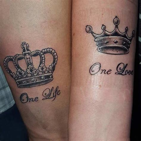 tattoo king and queen 51 king and tattoos for couples stayglam