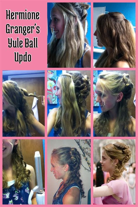 hermione yule ball hairstyle hermione granger s yule ball updo 1 section off hair