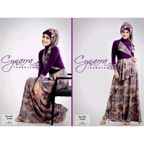 varisha purple baju muslim gamis modern