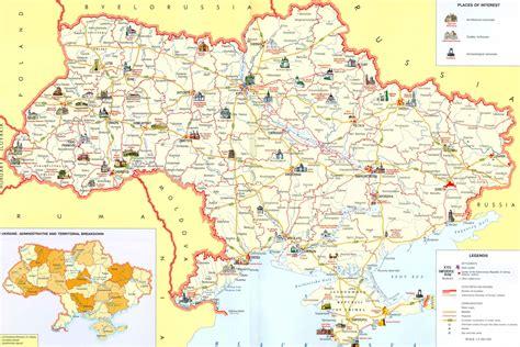 large map large detailed tourist map of ukraine ukraine large