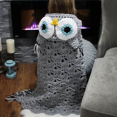 Crochet Owl Blanket Free Pattern by Diy Owl Blanket Will Turn You Into A Cozy Bird On The