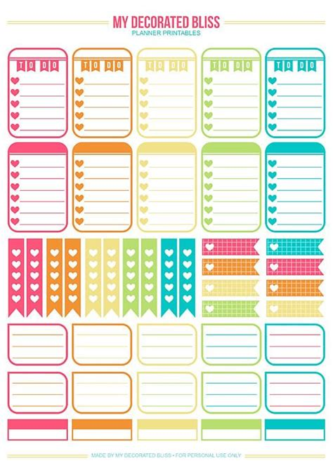 printable planner free pinterest planners happy planner and printable planner stickers on