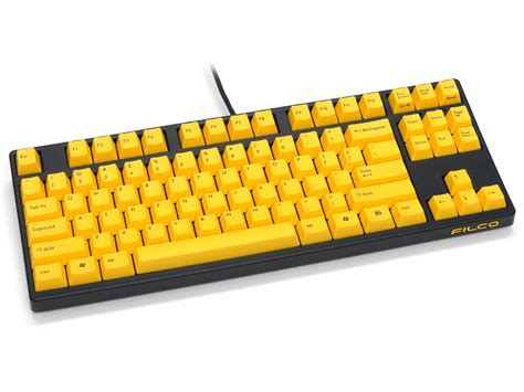 Keyboard Gaming Filco filco majestouch 2 yellow tkl mechanical keyboard brown