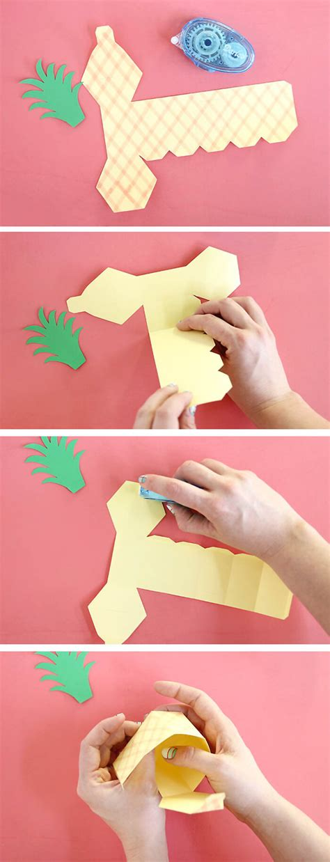 how to put a box together diy pineapple box persia lou