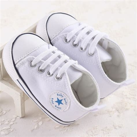 2017 new canvas sports sneakers newborn baby boys walkers shoes infant toddler soft