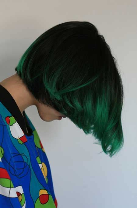 hairstyles with green highlights 35 short hair color ideas short hairstyles 2017 2018