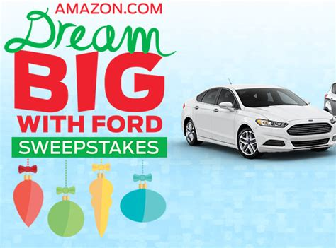 Amazon Com Sweepstakes - amazon dream big with ford freebie house free sles sweepstakes and coupons